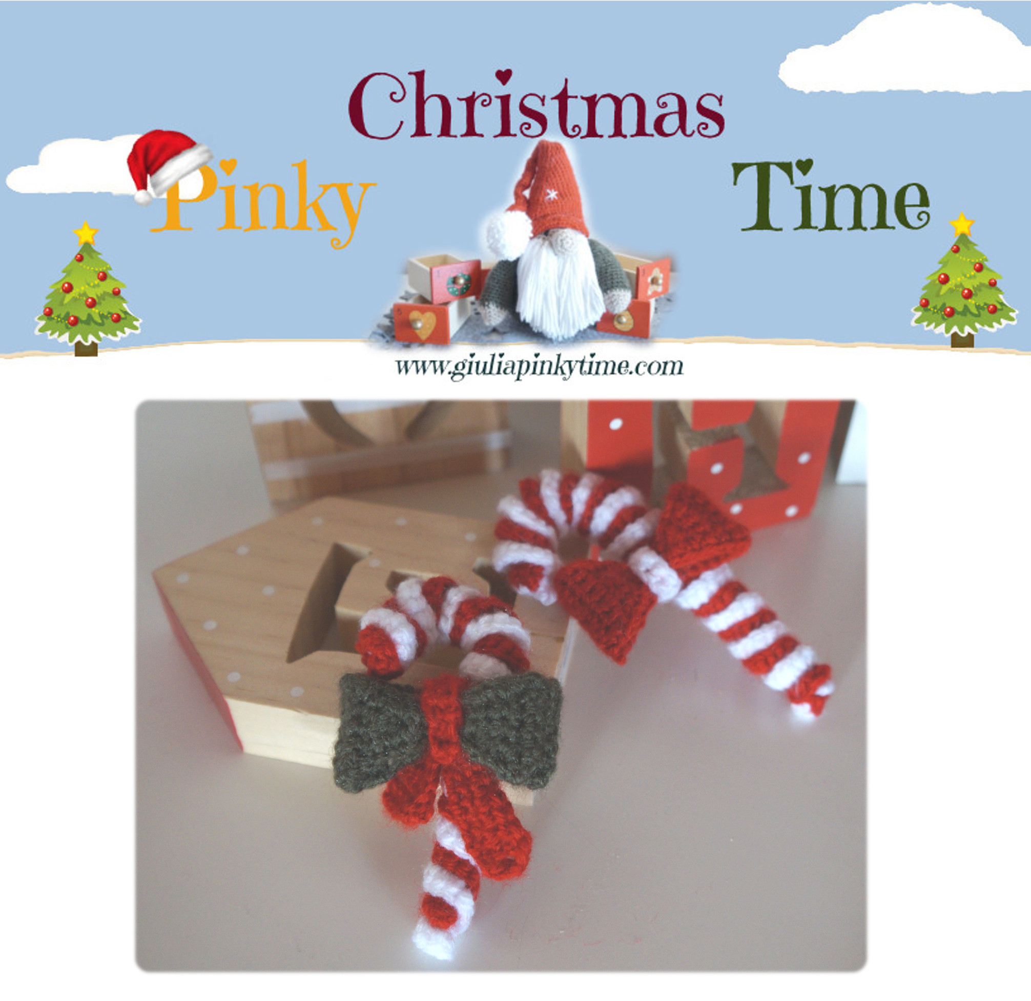 Campana natalizia all'uncinetto