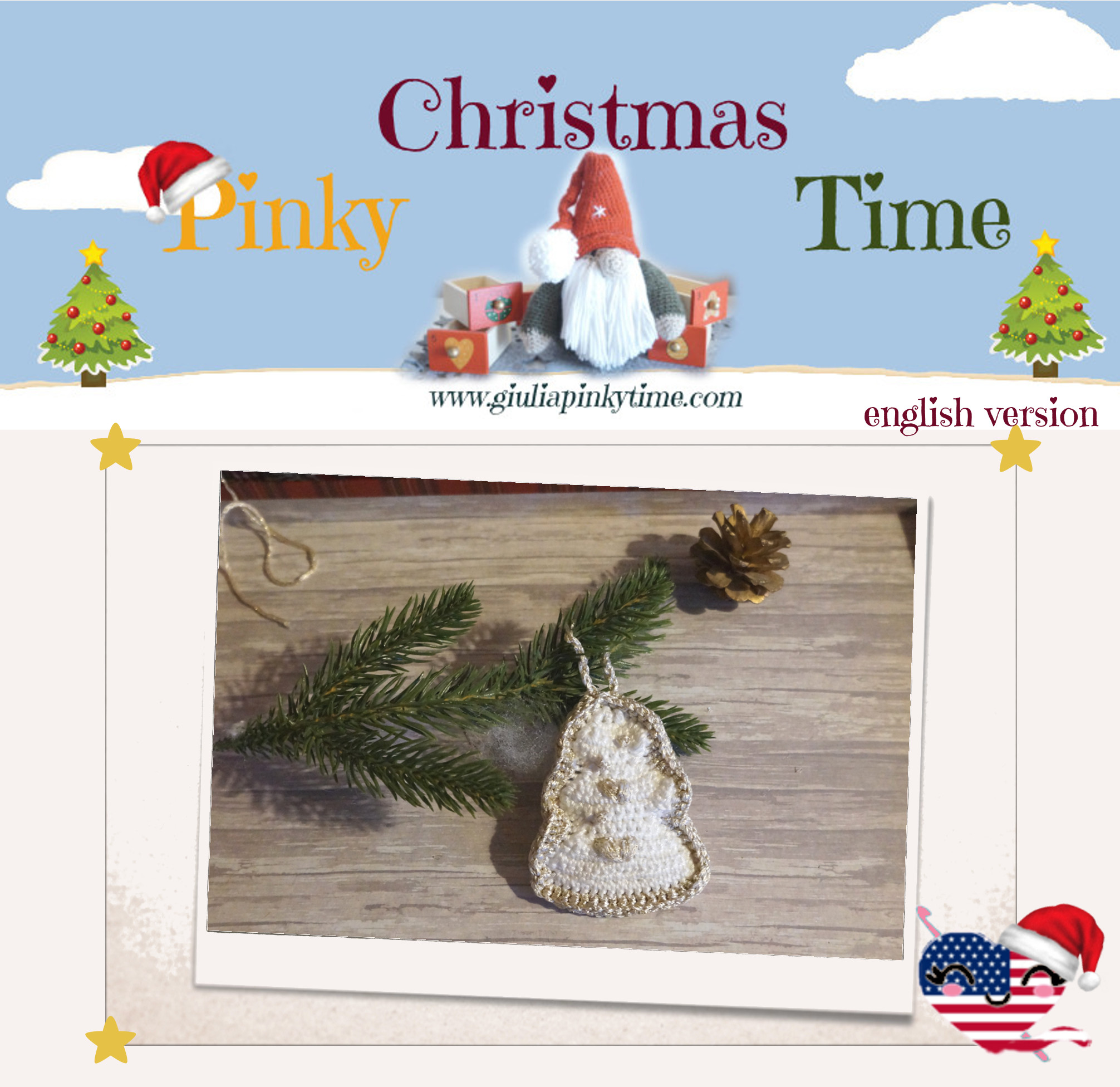 english version christmas tree ornament